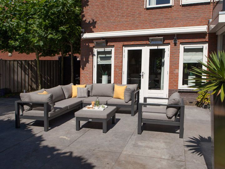 luna lounge garten sofa, applebee | alu weiß & stoff grau #garten, Gartenarbeit ideen