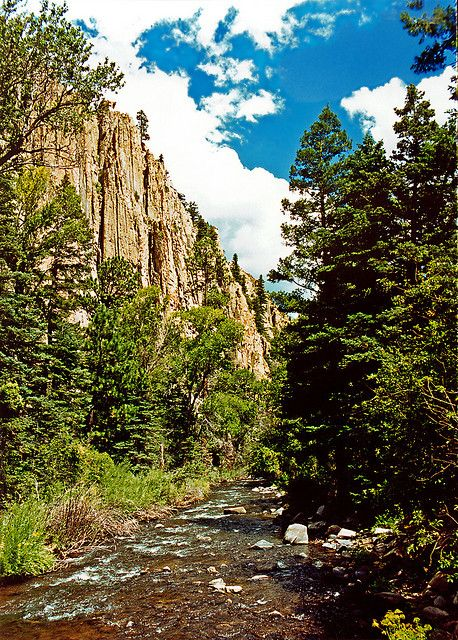 Cimarron River Canyon, New Mexico-beautiful drive~~ Can't wait to see it with some snow !!!!