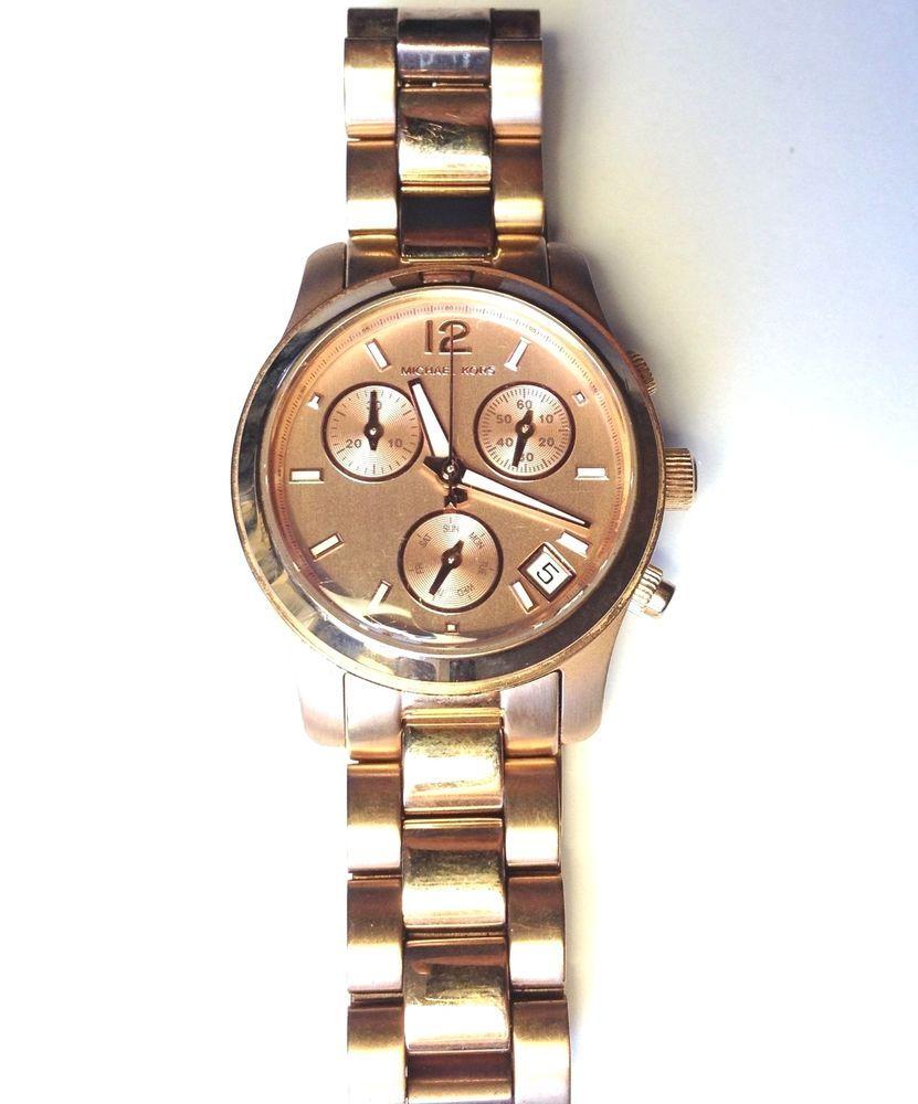 Michael Kors MK5430 Women's Watch Rosetone Runway 33MM #MichaelKors #Fashion