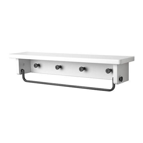 HJÄLMAREN Towel hanger/shelf - - - IKEA - for necklaces woth - handtuchhalter für küche