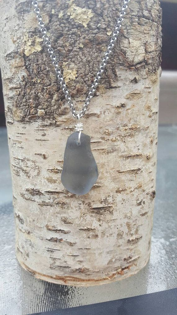 Check out this item in my Etsy shop https://www.etsy.com/listing/460005013/steel-gray-seaglasssteel-chain