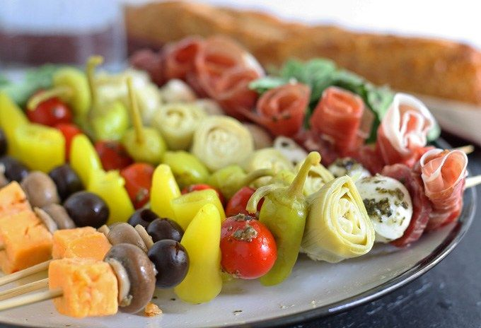 Finger Foods Are Not Just Easy To Eat But Mini Anything Is Just Plain Cute Am I Right By Having A Variety Of Fing Skewer Recipes Food Italian Appetizers Easy
