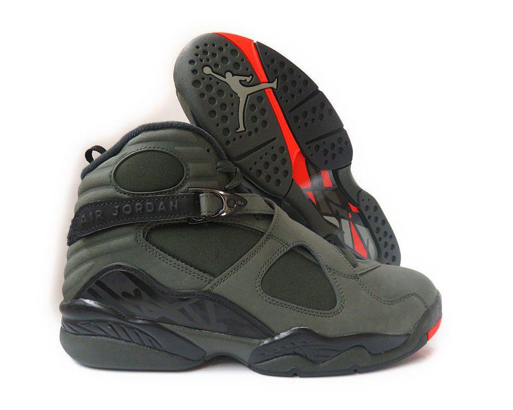07ef47eee5b3 ... closeout 305381 305 air jordan 8 retro sequoia max orange black men  sneakers sz a1b4c 9adfe