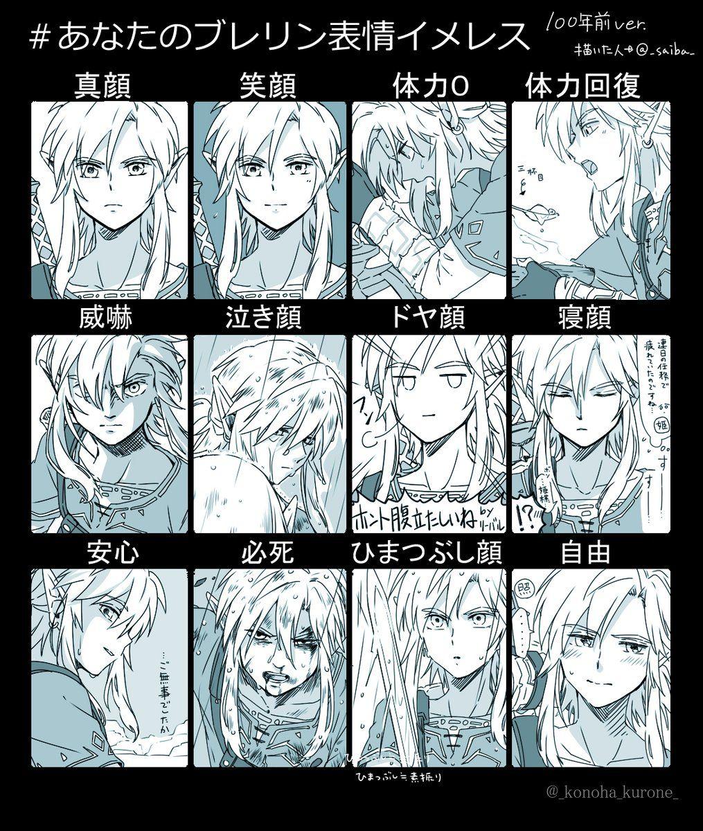 ゼルダの伝説 ブレスオブザワイルド 表情イメレス 100年前ver   【loz