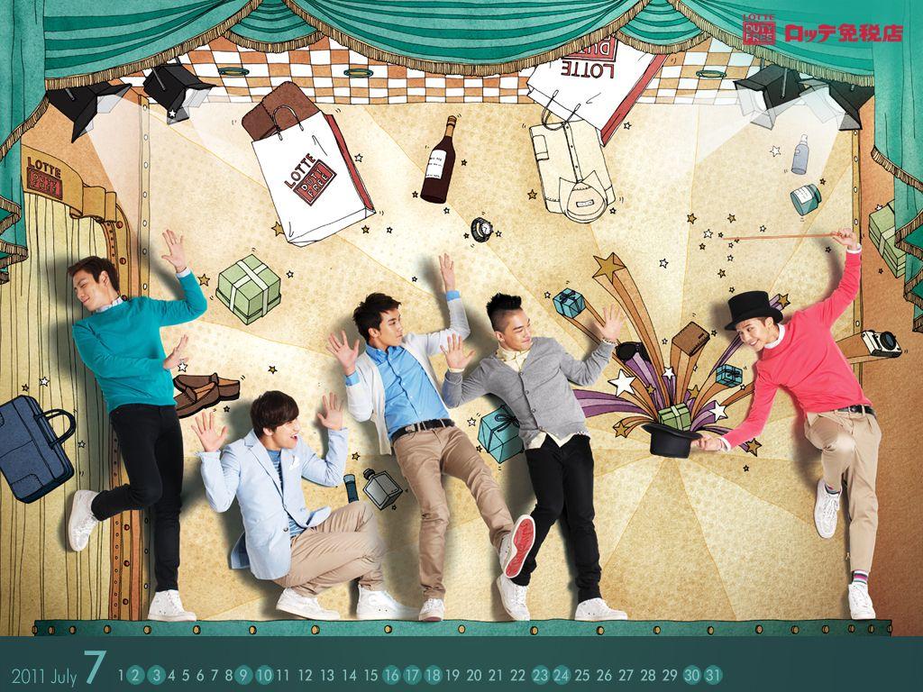Hd wallpaper kpop - Latest Kpop Wallpaper Cute Big Bang July Calendar Wallpaper Hd Quality Also Downloa All