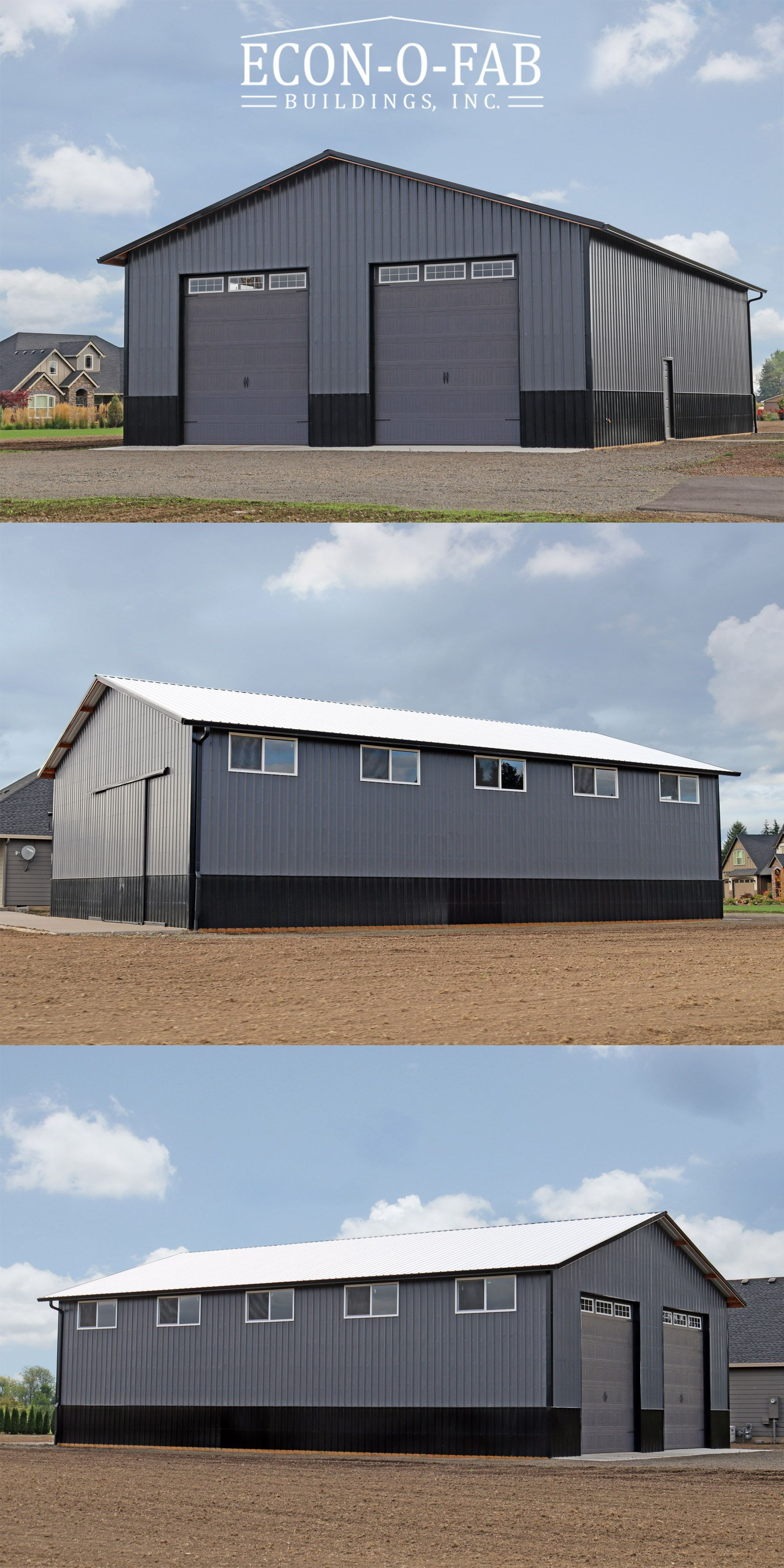 40' x 60' x 16' residential pole building