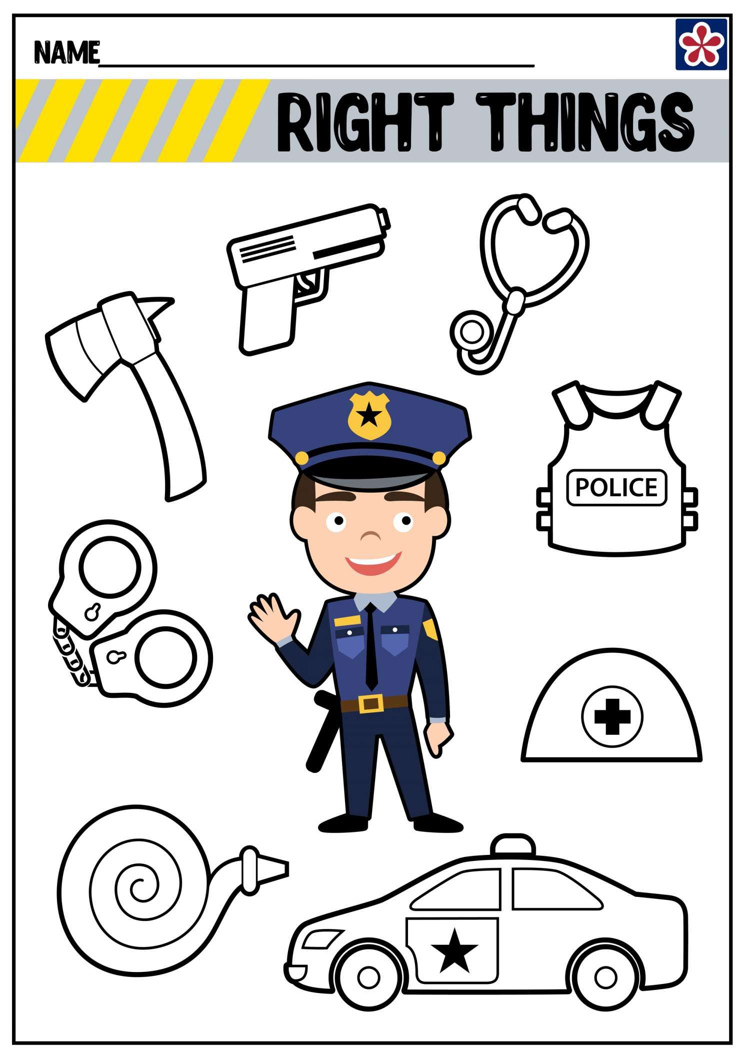 17 Police Officer Kindergarten Worksheet In