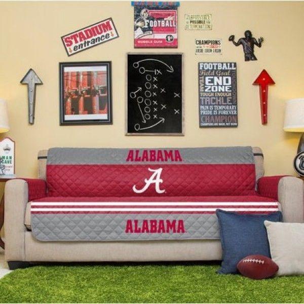 Alabama Crimson Tide Sofa Couch Cover NCAA Licensed Furniture