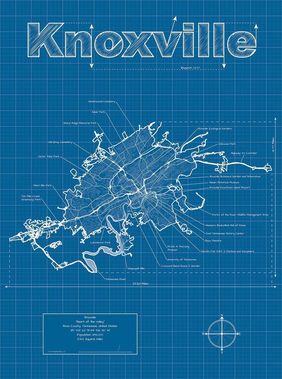 Blueprint Map of Knoxville, Tennessee, USA | MAPS | Map art ... on phoenix usa map, rochester usa map, allentown usa map, macon usa map, nashville usa map, wichita usa map, williamsburg usa map, seattle usa map, franklin usa map, atlanta usa map, springfield usa map, charlotte usa map, cheyenne usa map, cincinnati usa map, anchorage usa map, smoky mountains usa map, milwaukee usa map, columbia usa map, auburn usa map, pueblo usa map,