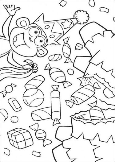 Boots Has A Lot Of Candy ~ coloring sheets for the toddler table ...