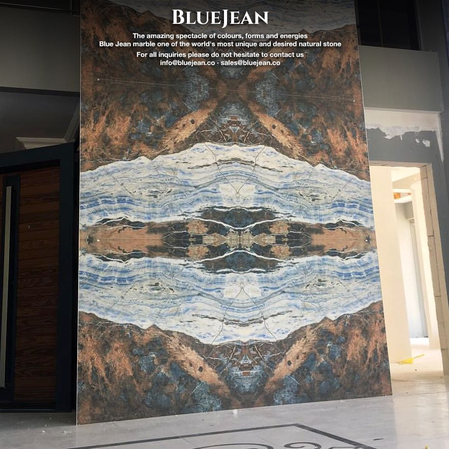 Blue Jean marble | Turkey #bluejeanmarble #marble #bluejeansmarble #design #marbledesign #interior #tiles #slabs #blocks #luxury #naturalstone #inspire #architecture #蓝色牛仔 #bookmatch #мрамор