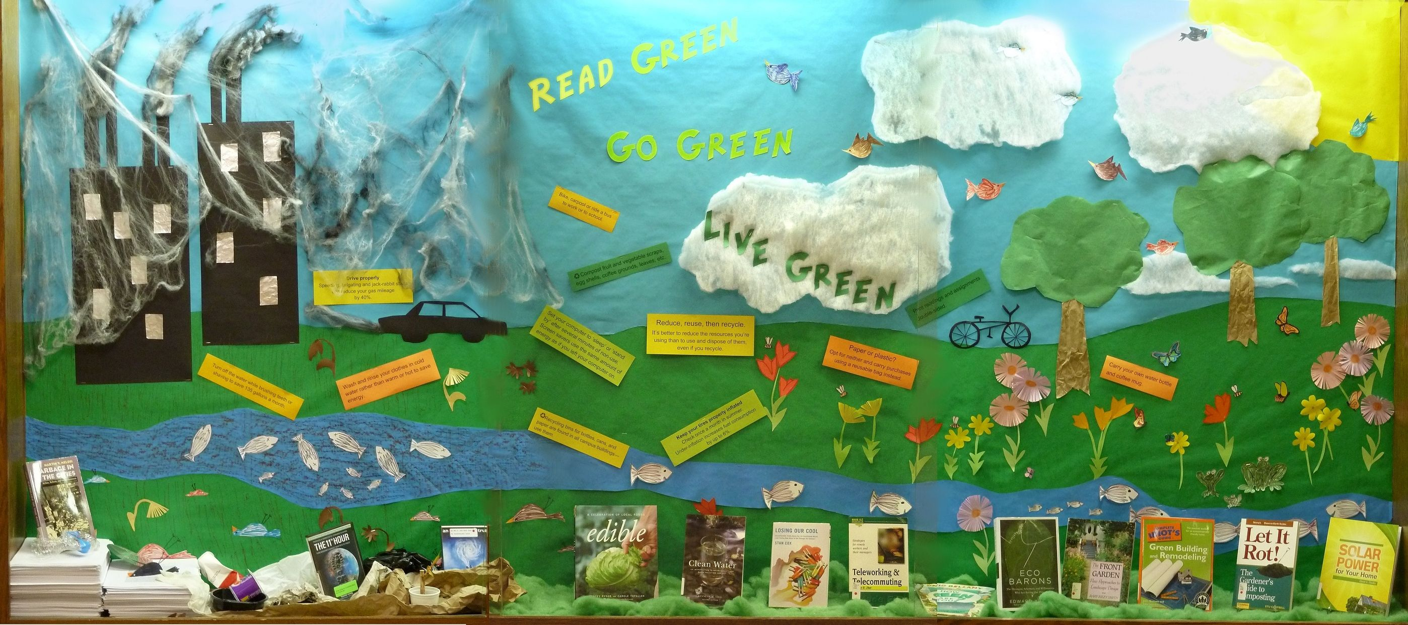 Read Green Go Green Live Green Library Book Display