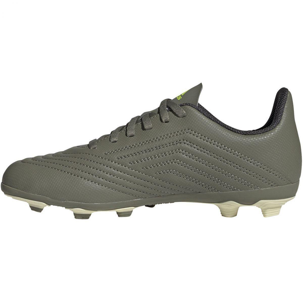 Buty Pilkarskie Adidas Predator 19 4 Fxg Jr Ef8221 Wielokolorowe Szare Football Shoes Adidas Predator Sports Footwear