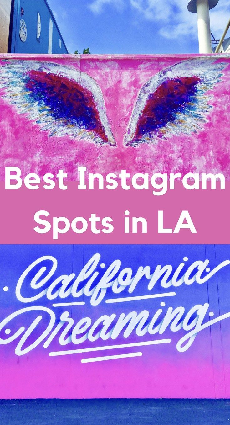 The best Instagram spots in Los Angeles - click to see the most popular Instagram locations in LA!