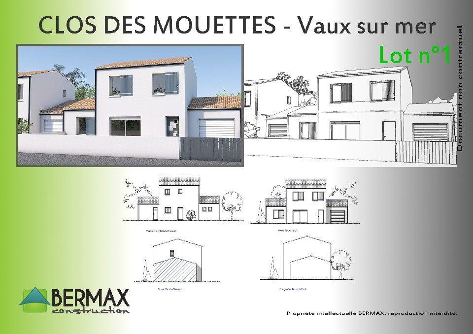Plan achat maison neuve à construire - Bermax Maison étage 3 chambres 94.37 m² charente maritime
