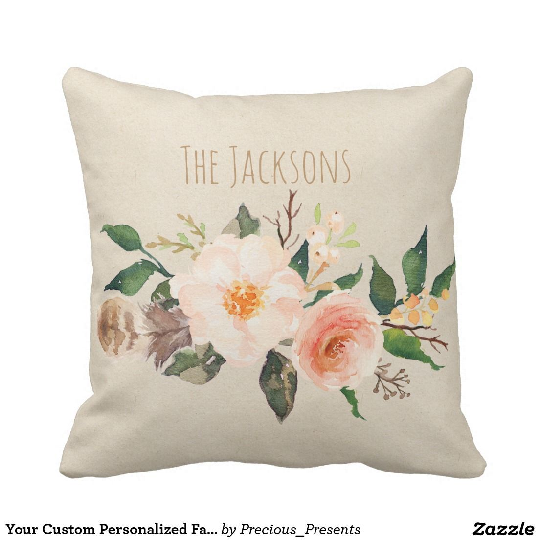 Your Custom Personalized Family Outdoor Pillow