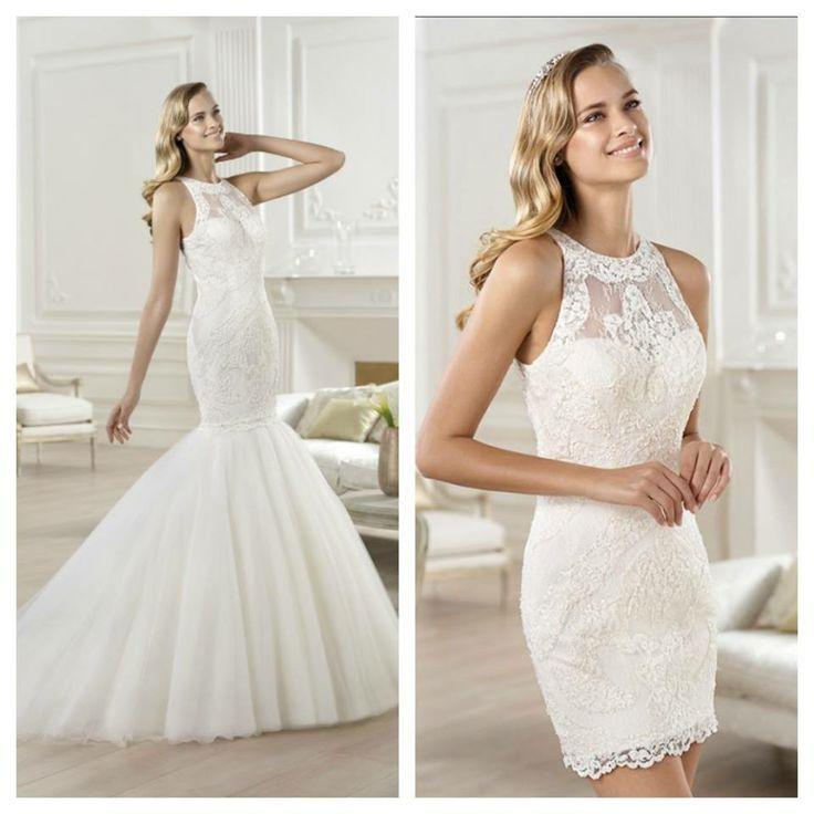 Convertible wedding dresses detachable skirts