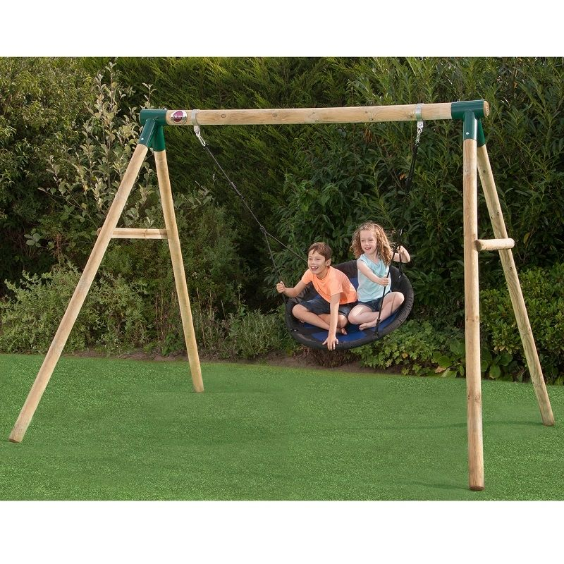 Plum Spider Monkey Ii Wooden Garden Swing Set At All Round Fun Huge