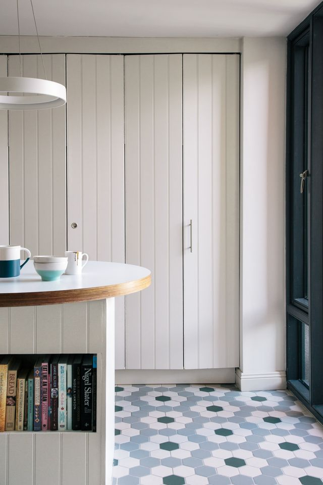When closed up the concertina doors streamline the clever kitchen space. & When closed up the concertina doors streamline the clever kitchen ...