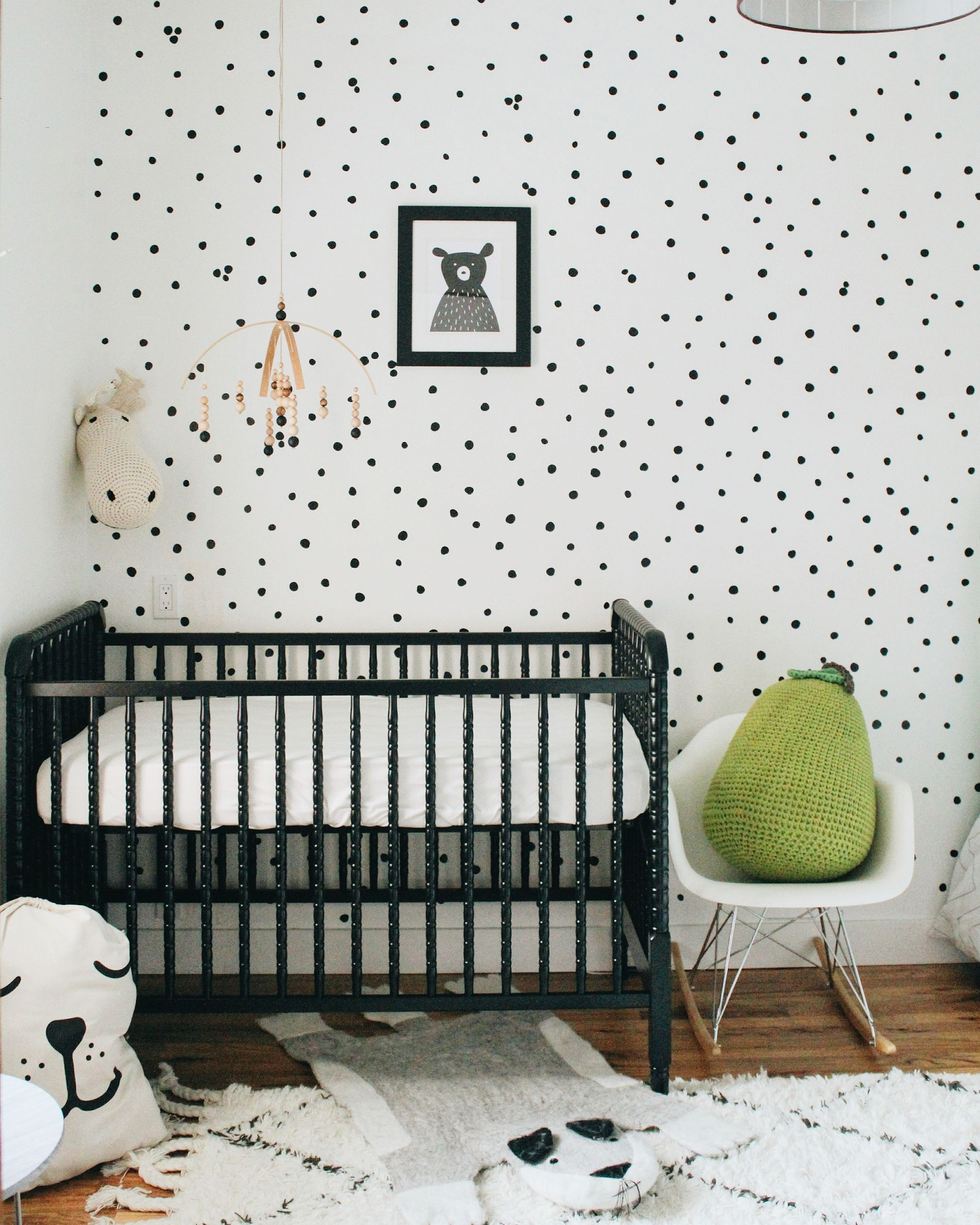 In The Shared Boys Room With The Mckeens Project Nursery Black Crib Boys Nursery Furniture White Nursery