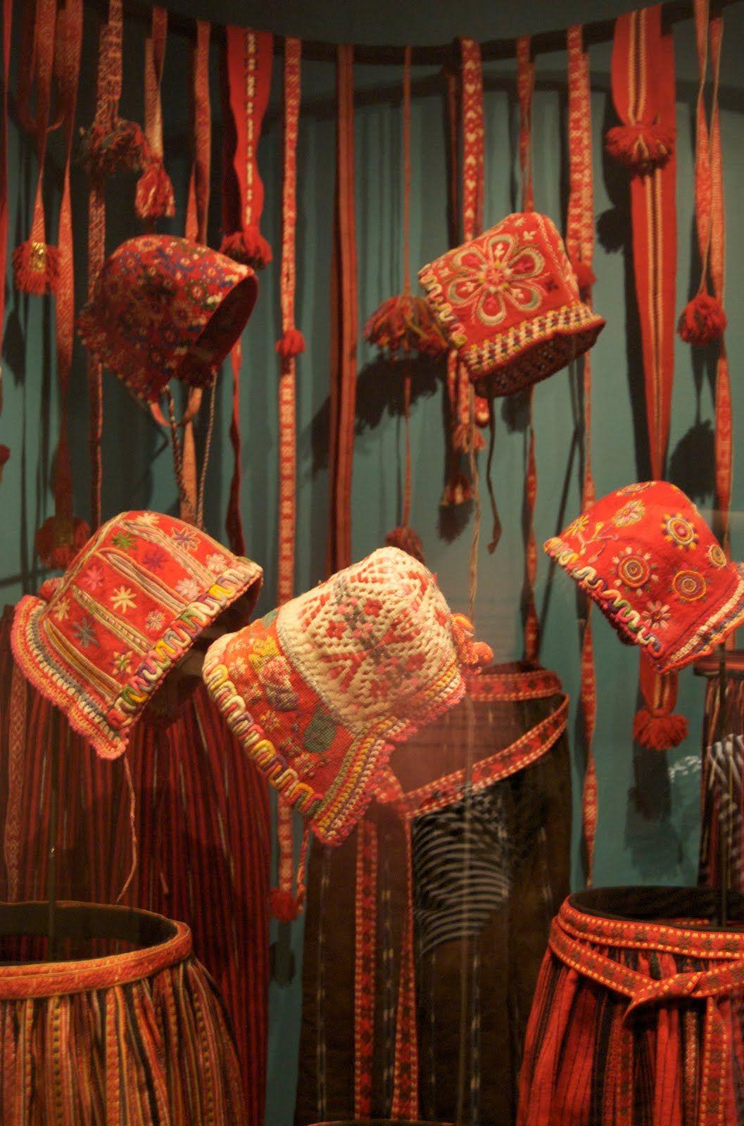 Swedish traditional bonnets for folk dresses