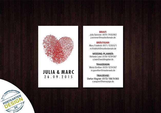100x Hochzeits Visitenkarten Für Wichtige Infos