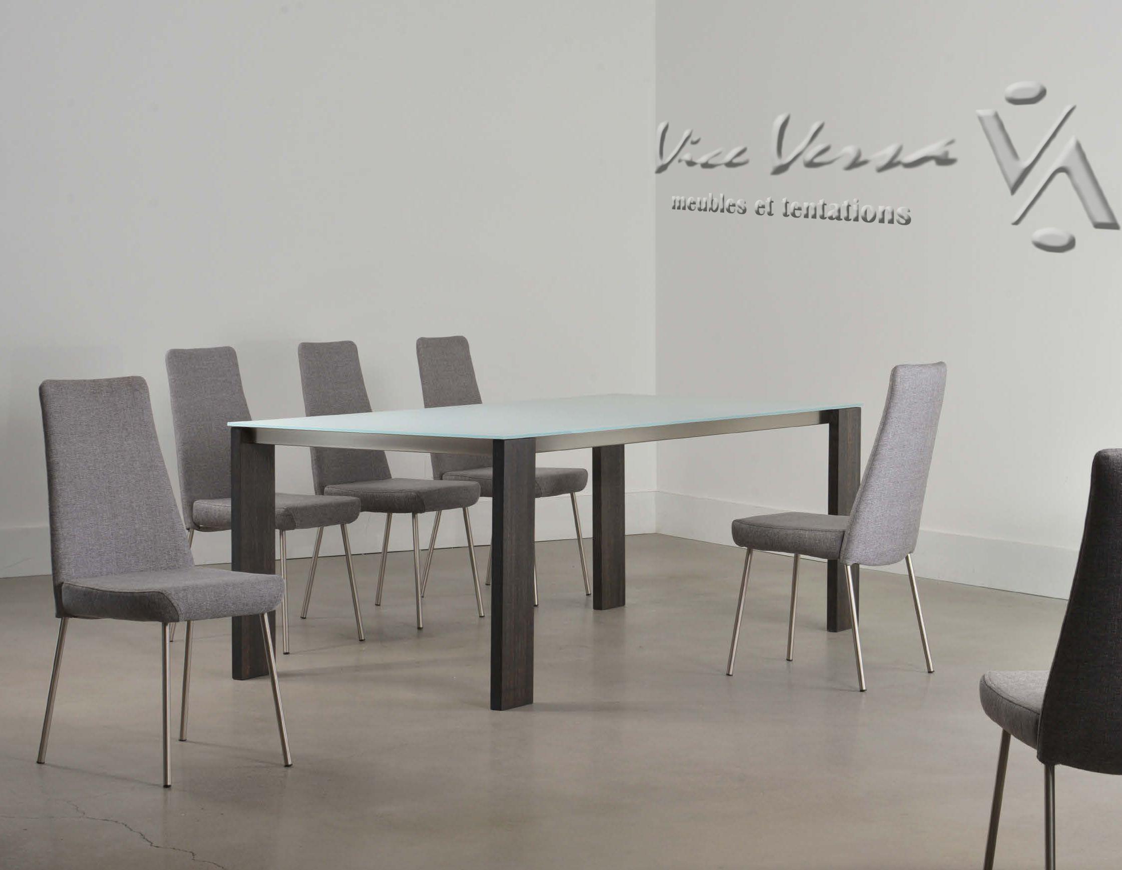 Meuble Vice Versa Table A Manger Et Emsemble De Chaises Pour La