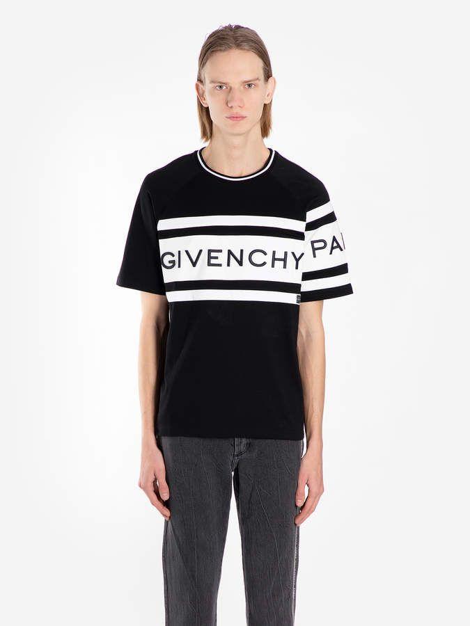 Givenchy T shirts BM70KV3002 001 | Black, white logos