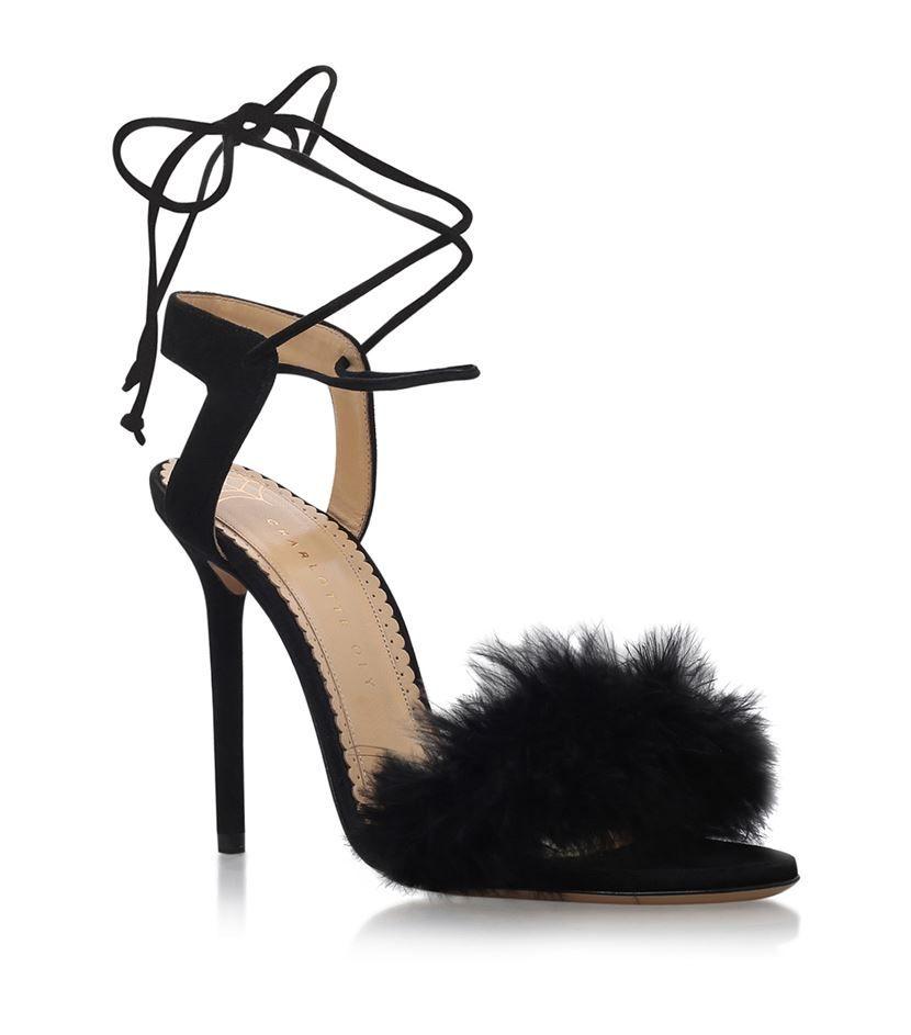In Control Feather Heel - Red | Feather heels, Heels