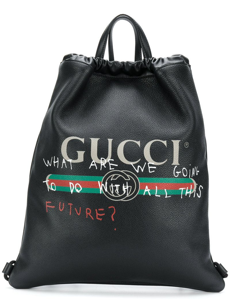 1ae77e1ee49d GUCCI GUCCI - COCO CAPITÁN LOGO BACKPACK . #gucci #bags #leather #lining # backpacks #