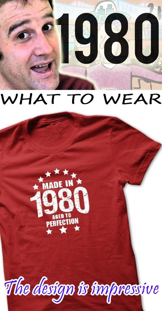 Made in 1980 Aged To Perfection AGE-t-shirt