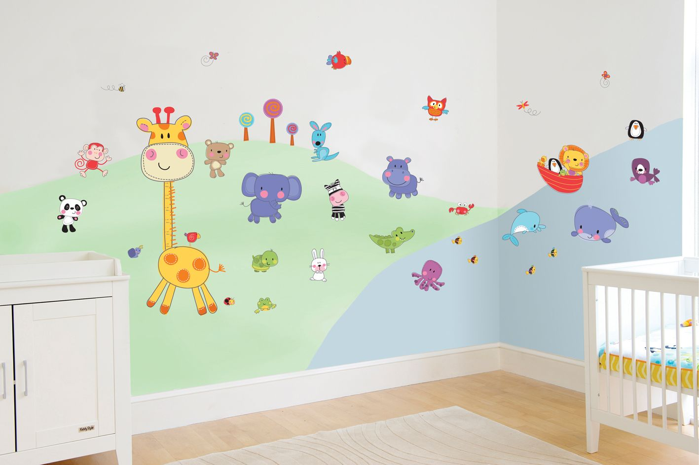 Fisher-Price nursery wall stickers. Creative ideas for decorating ...