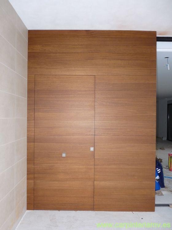 Puerta de entrada panelada #carpinteria #door #furniture    www - puertas de entrada