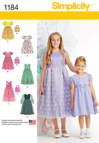 Sewing pattern! make fancy dresses! 1st communion~flower girl ...