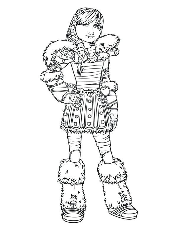 How To Train Your Dragon Picture Of Astrid Coloring Pages