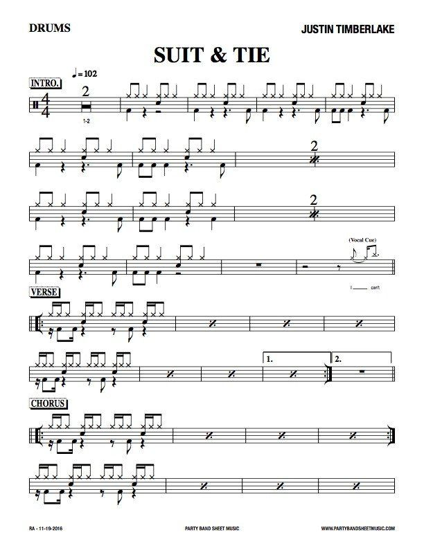 Drum Parts Bass Parts Horn Charts And More Get Great Sheet