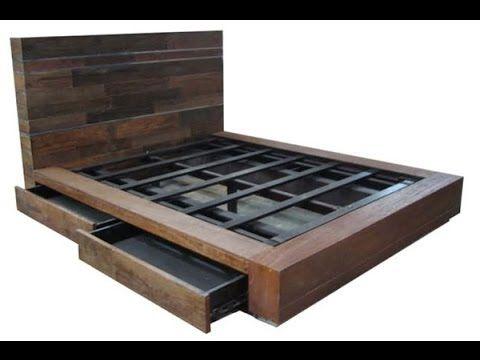 dc12479d6d DIY Modern Plywood Platform Bed Part 1 : Frame & Nightstand Build -  Woodworking - YouTube