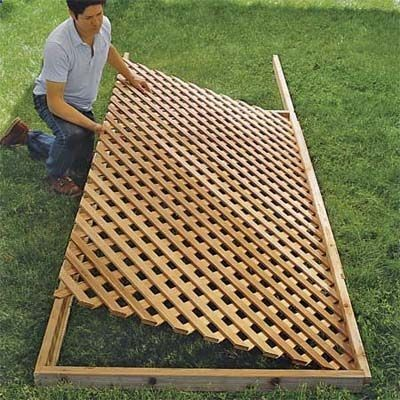 how to build lattice fence panels | Set the Lattice in Place