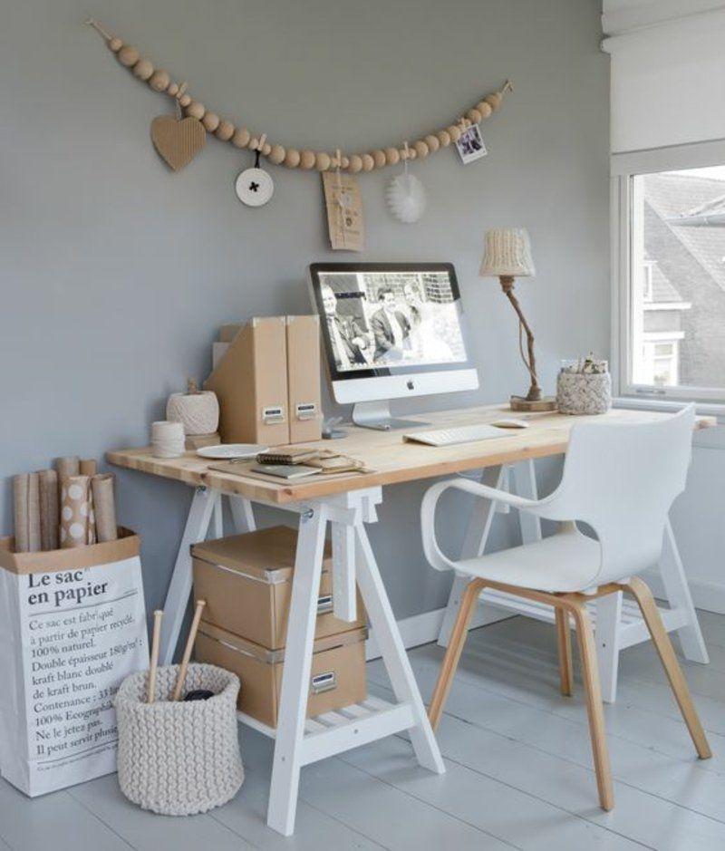Arbeitsplatz skandinavisch einrichten - stilvolle Büromöbel Haus