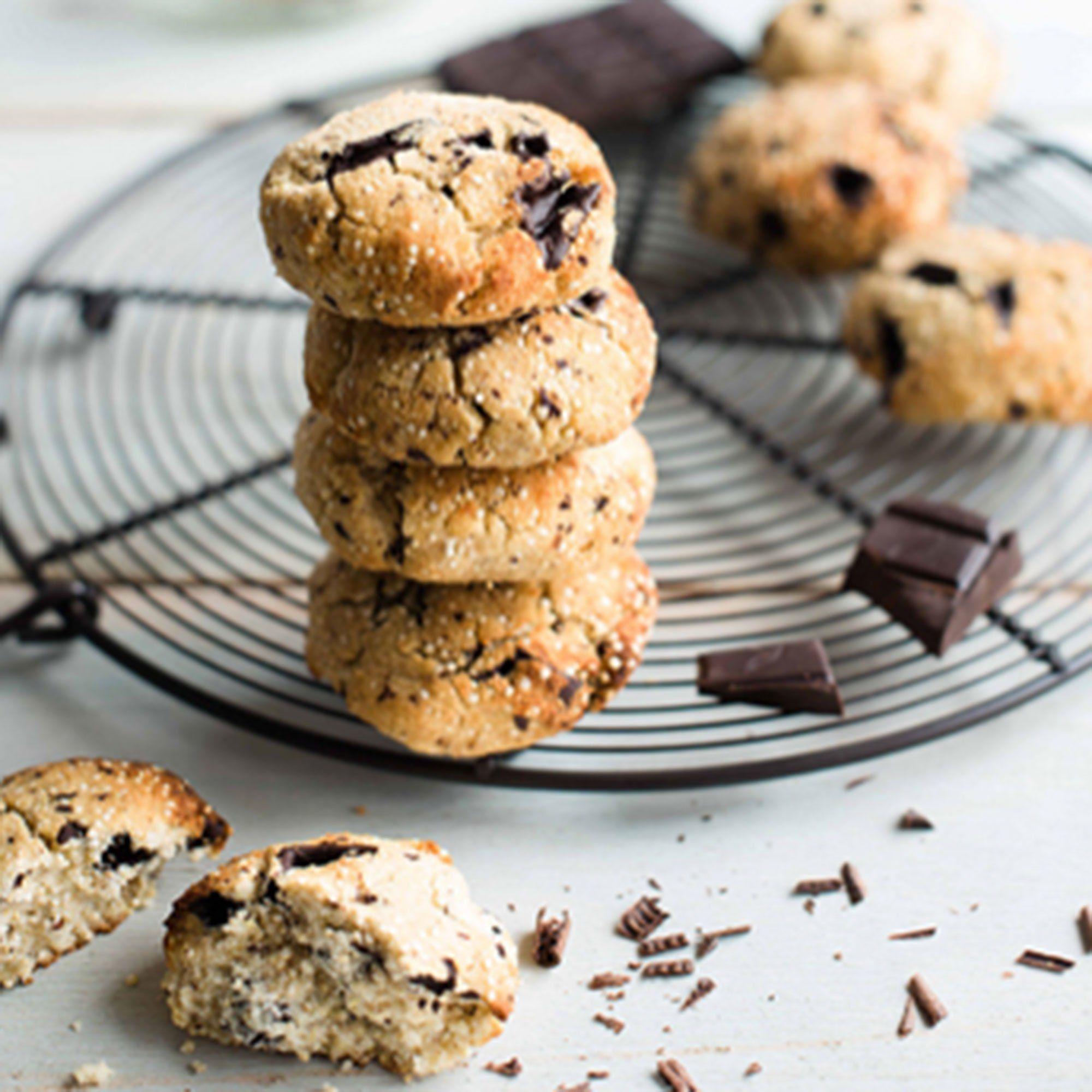 Des cookies vegan aux pépites de chocolat par Quinola Mothergrain