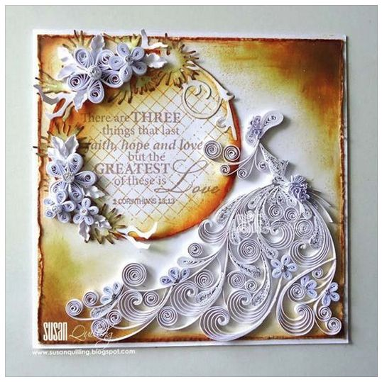 Pin On Wedding Anniversary 2020: Quilled Wedding Anniversary Card