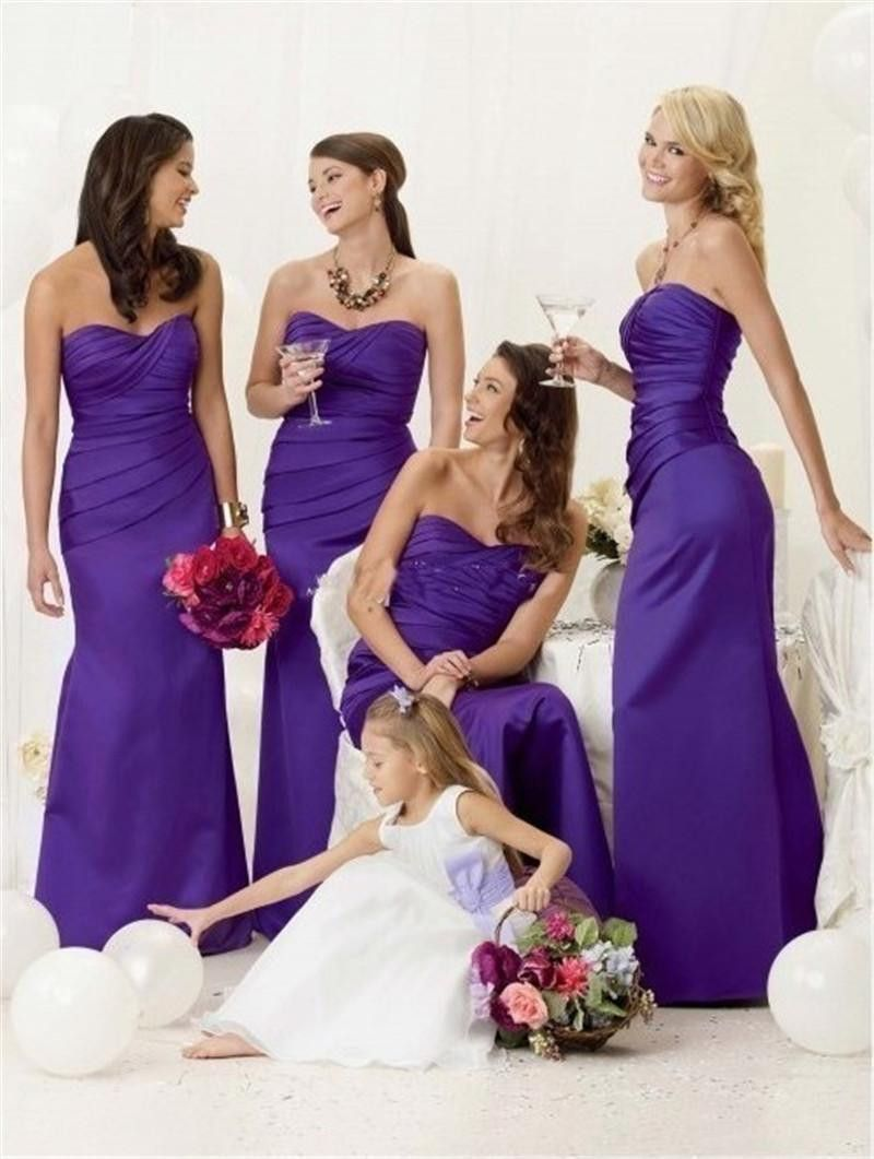 Satin pleated mermaid bridesmaid dresses bridal stores bride cadbury purple bridesmaid dress dresses evening ball party prom formal wedding in clothing shoes accessories wedding formal occasion ombrellifo Image collections