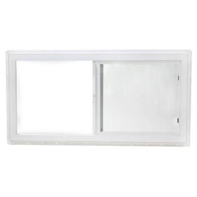 Tafco Windows 47 5 In X 23 5 In Utility Left Hand Single Slider Vinyl Window Dual Pane Insulated Glass And Screen White Vps4824i The Home Depot Window Vinyl Sliding Vinyl Windows Slider Window