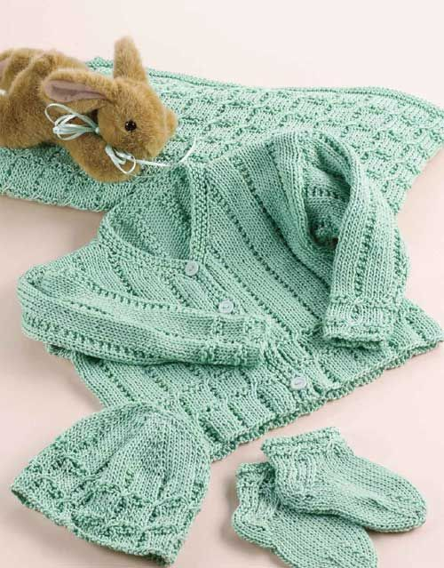 Precious Bundle Set Free Knitting Pattern Knitting Baby Infant