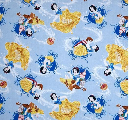 Etsy Disney Princess Snow White Blue  by ScrubCapsAndStuff on Etsy