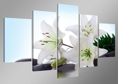 Visario Leinwandbilder 5504 Bild auf Leinwand Blumen, 160 cm, 5