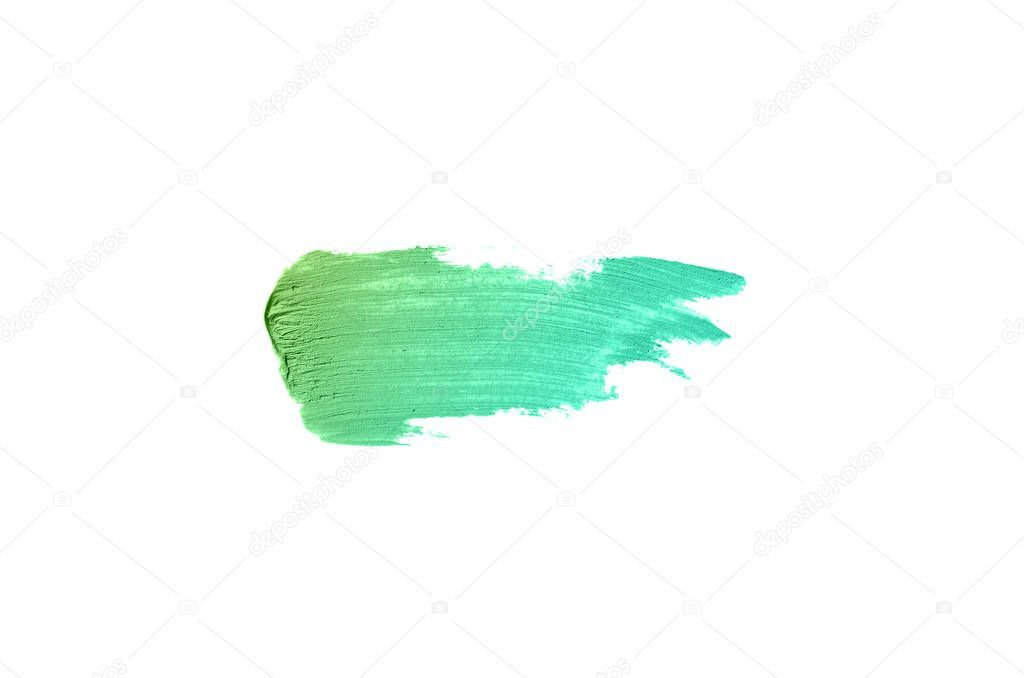 Photo of Smear Texture Lipstick Acrylic Paint Isolated White Background Stroke Lipgloss