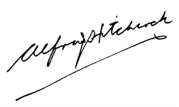 alfred hitchcock  film director autograph