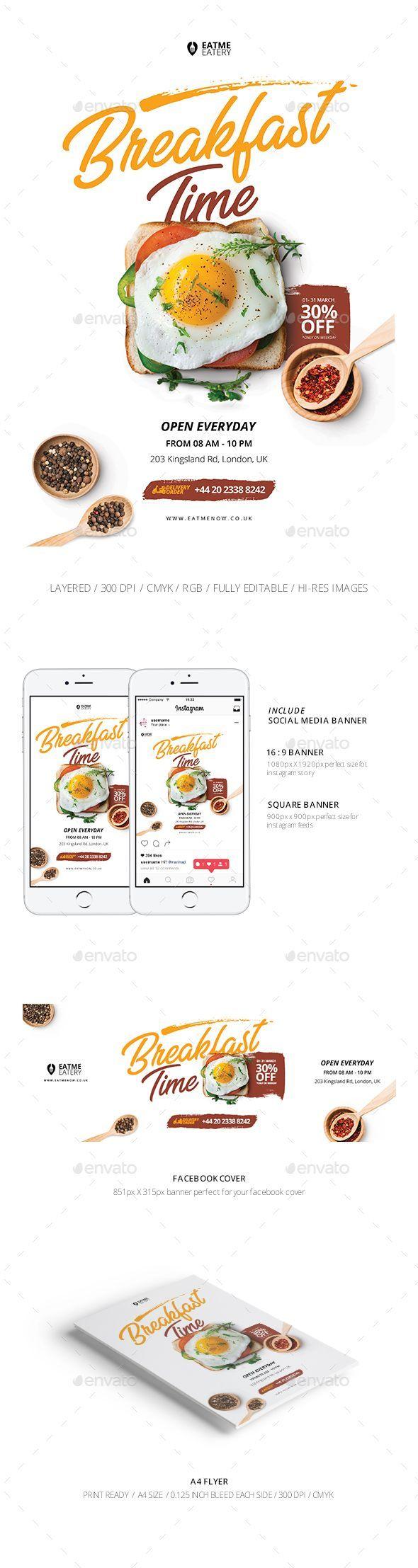 Flyer & Social Media Banner - Restaurant Flyers