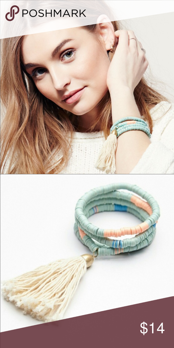 Free People Pastel Spring Tassel Bracelet Set Free People store overstock- brand new Free People Jewelry Bracelets